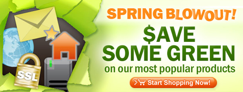 Save BIG during GoDaddy Spring Blowout!
